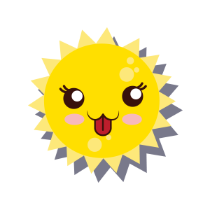Sun emoji sticker 2019 messages sticker-2