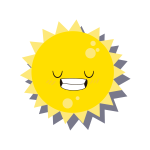 Sun emoji sticker 2019 messages sticker-5