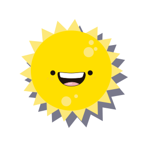 Sun emoji sticker 2019 messages sticker-0