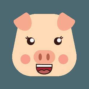 pig cute emoji face messages sticker-5