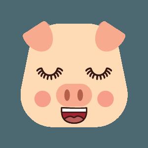 pig cute emoji face messages sticker-6