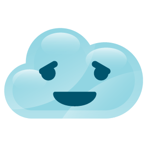 cloudy lovely emoji stickers 2 messages sticker-5