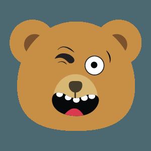 bear face cute emoji 2019 messages sticker-0