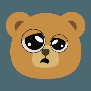 bear face cute emoji 2019 messages sticker-4