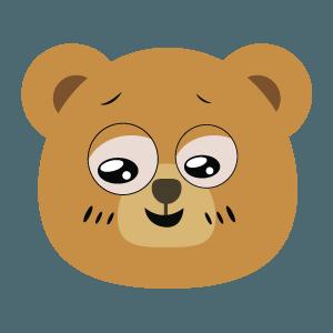 bear face cute emoji 2019 messages sticker-8