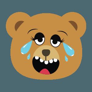 bear face cute emoji 2019 messages sticker-3