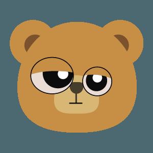bear face cute emoji 2019 messages sticker-10