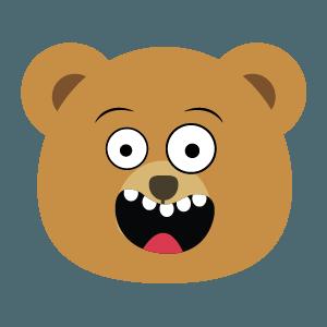 bear face cute emoji 2019 messages sticker-1