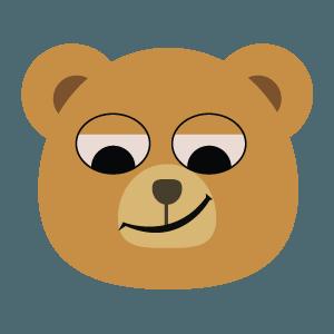 bear face cute emoji 2019 messages sticker-5