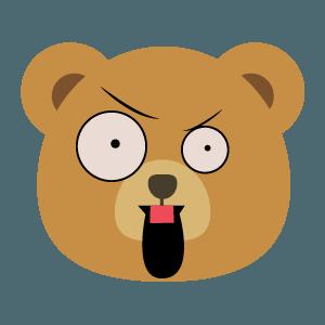 bear face cute emoji 2019 messages sticker-6