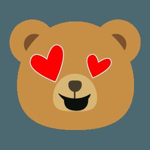 bear face cute emoji 2019 messages sticker-11