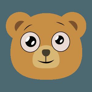 bear face cute emoji 2019 messages sticker-7