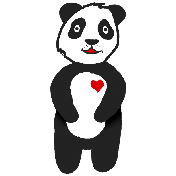Panda with character messages sticker-2