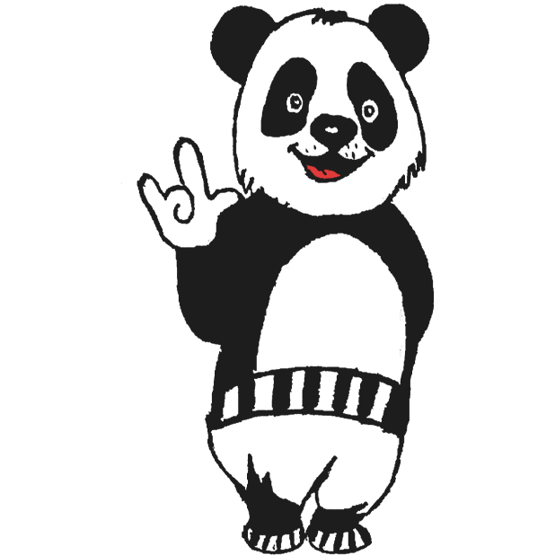Panda with character messages sticker-10