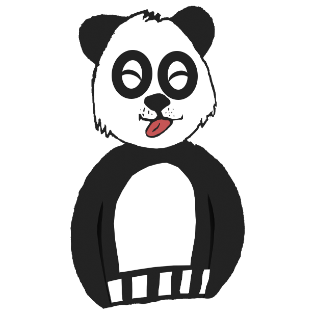 Panda with character messages sticker-0