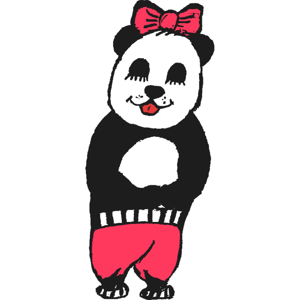 Panda with character messages sticker-11