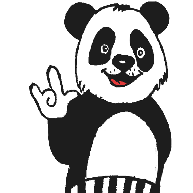 Panda with character messages sticker-9