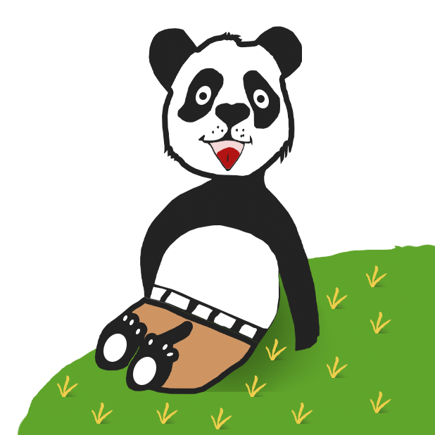 Panda with character messages sticker-6