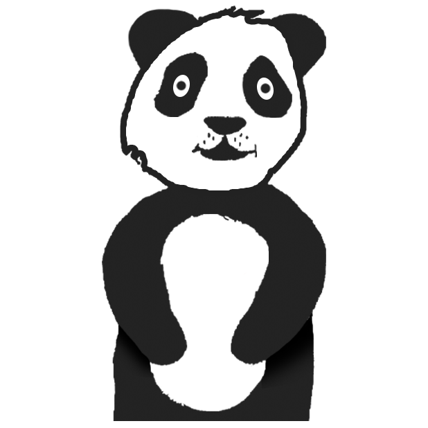 Panda with character messages sticker-3