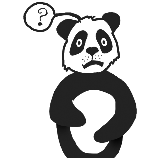 Panda with character messages sticker-1