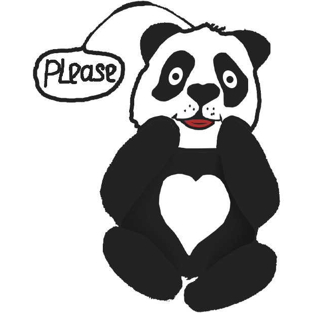 Panda with character messages sticker-7