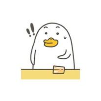 Lucky duckling messages sticker-5