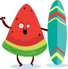 watermelon emoji sticker 2020 messages sticker-0