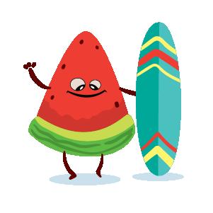 watermelon emoji sticker 2020 messages sticker-7