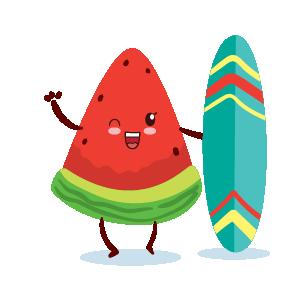 watermelon emoji sticker 2020 messages sticker-8