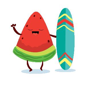 watermelon emoji sticker 2020 messages sticker-2
