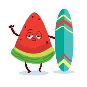 watermelon emoji sticker 2020 messages sticker-3