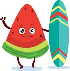 watermelon emoji sticker 2020 messages sticker-11
