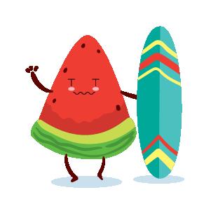 watermelon emoji sticker 2020 messages sticker-10