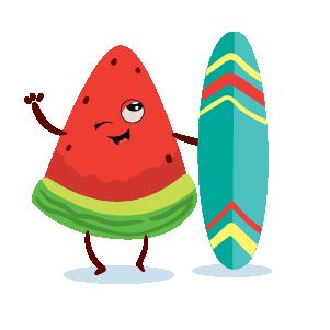 watermelon emoji sticker 2020 messages sticker-4