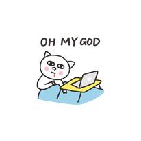 Get cute - cat messages sticker-5