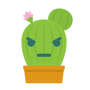 Cactus funny emoji stickers messages sticker-5