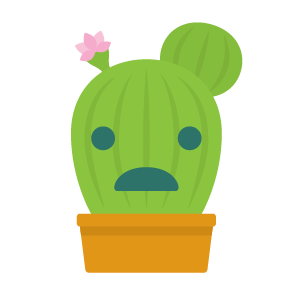 Cactus funny emoji stickers messages sticker-8