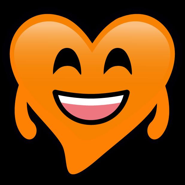 Orange Hearts stickers messages sticker-2