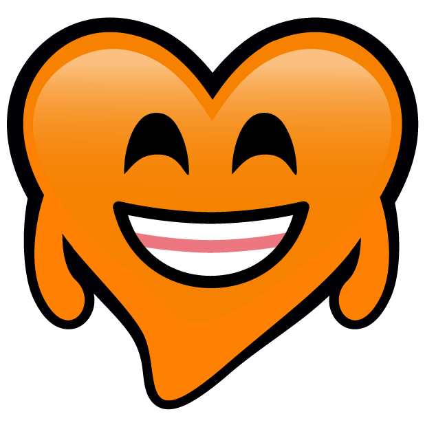 Orange Hearts stickers messages sticker-3