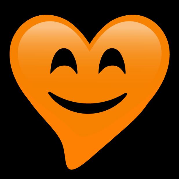 Orange Hearts stickers messages sticker-9