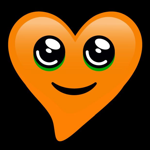 Orange Hearts stickers messages sticker-11