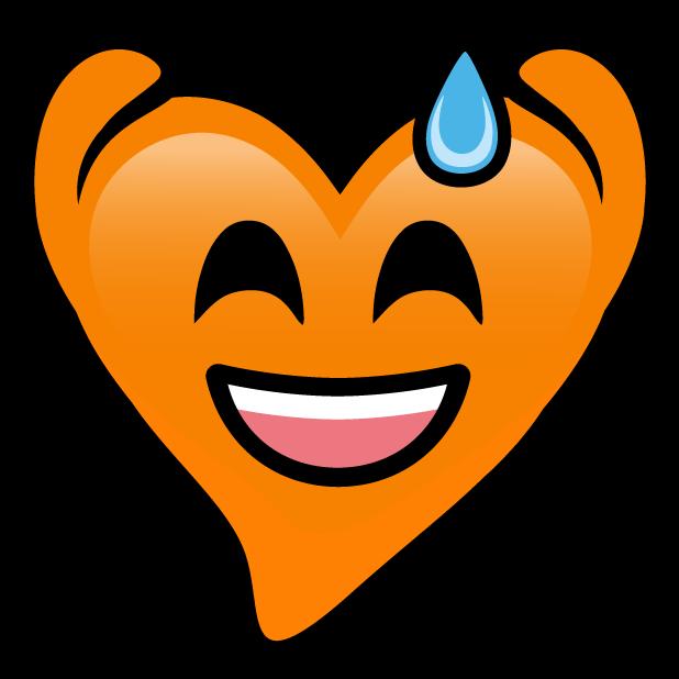 Orange Hearts stickers messages sticker-5