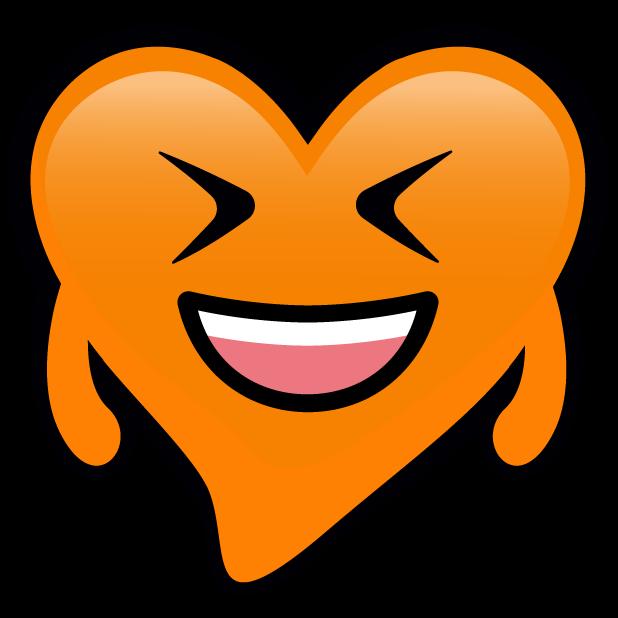 Orange Hearts stickers messages sticker-4