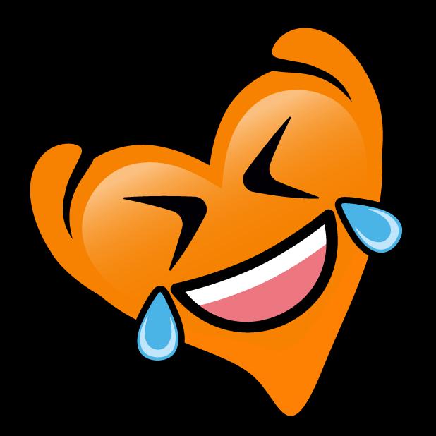 Orange Hearts stickers messages sticker-7