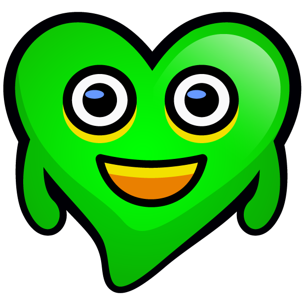 Green Hearts stickers messages sticker-1
