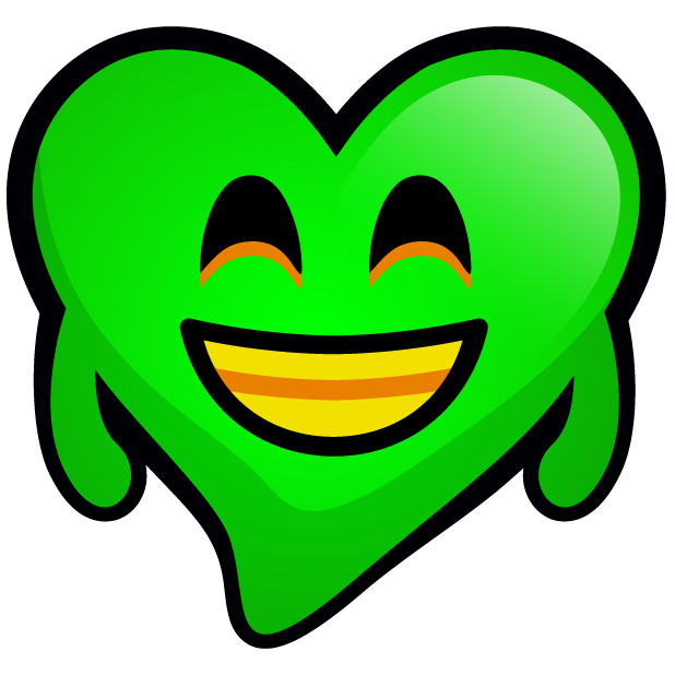 Green Hearts stickers messages sticker-3