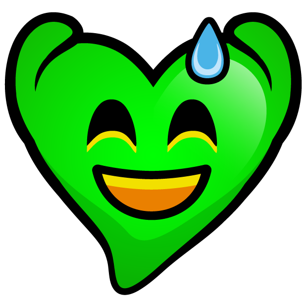 Green Hearts stickers messages sticker-5