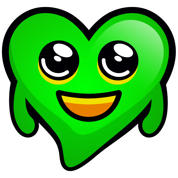 Green Hearts stickers messages sticker-0