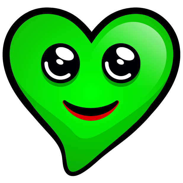 Green Hearts stickers messages sticker-11
