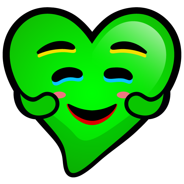 Green Hearts stickers messages sticker-8